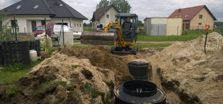 Budowa biologicznej oczyszczalni ścieków Biopura 4 Orla